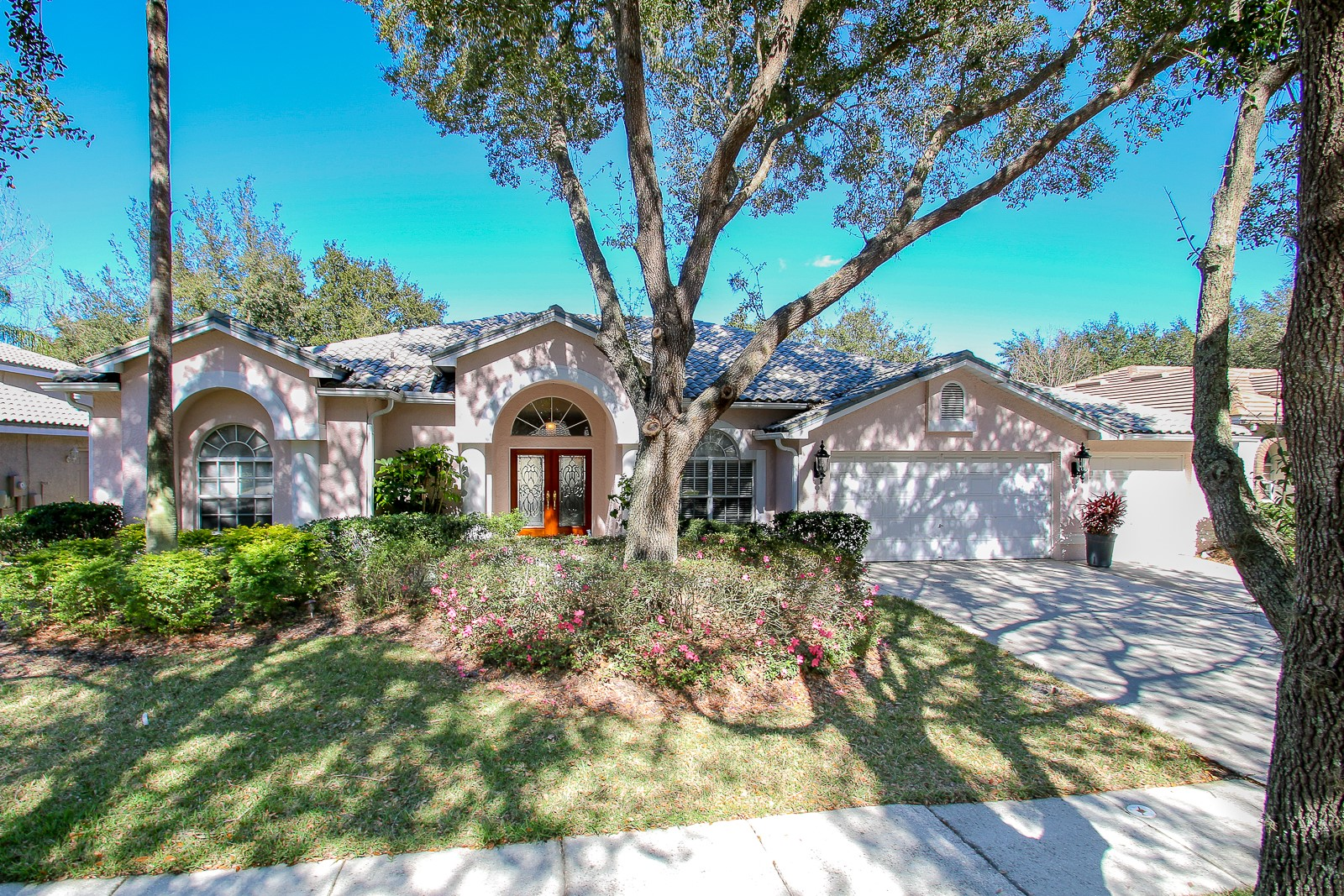 Check out this new tampa pool home for sale in hunters green this 4 bedroom 3 bath 3 car garage home has a great floor plan and is located in a gated